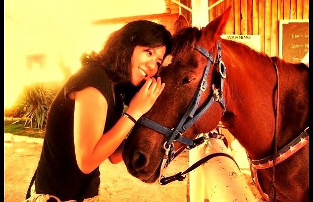 Phoebe and horse