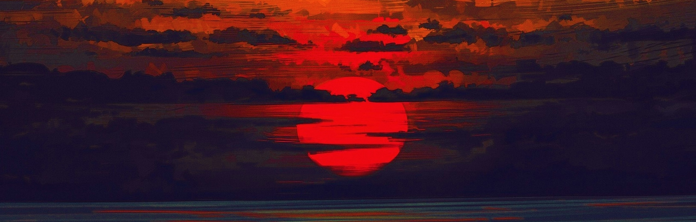 sunset-painting-clouds-sea